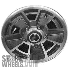 Picture of Ford BRONCO (1982-1984) 15x6 Aluminum Alloy Machined with Black 5 Spoke [01289]
