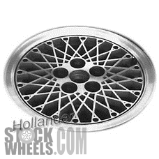 Picture of Oldsmobile CIERA (1984-1988) 14x6 Aluminum Alloy Black  Diamond Spoke [01380]