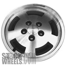 Picture of Jeep CHEROKEE (1984-1986) 15x6 Aluminum Alloy Machined with Silver 5 Slot [01401]