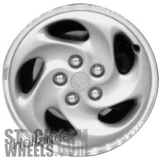 Picture of Eagle TALON (1995-1998) 16x6 Aluminum Alloy Silver with Machined Lip 5 Slot [02062A]