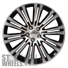 Picture of Chrysler 300 (2011-2014) 20x8 Aluminum Alloy Polished and Black 10 Double Spoke [02420B]