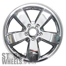 Picture of Mercury MARINER (2008-2010) 17x7 Aluminum Alloy Chrome Clad 5 Spoke [03680B]