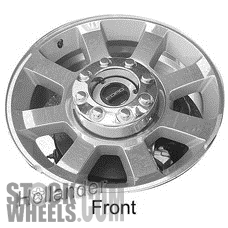 Picture of Ford F250SD PICKUP (2008-2010) 20x8 Aluminum Alloy Chrome 8 Spoke [03759]