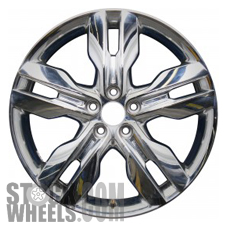 Picture of Ford EDGE (2011-2014) 20x8 Aluminum Alloy Chrome Clad 5 Split Spoke [03847]
