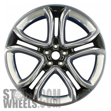 Picture of Ford EDGE (2011-2014) 22x9 Aluminum Alloy Polished with Black 5 Double Spoke [03850]