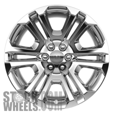 Picture of GMC SIERRA 1500 PICKUP (2015-2018) 22x9 Aluminum Alloy Chrome 6 Double Spoke [04741]