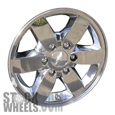 Picture of Chevrolet COLORADO (2008-2012) 17x7 Aluminum Alloy Chrome Clad 6 Spoke [05365]