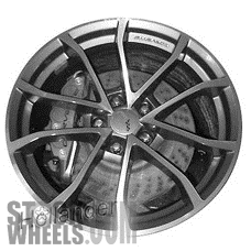 Picture of Chevrolet CORVETTE (2013) 20x12 Aluminum Alloy Chrome 5 Double Spoke [05599]