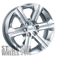 Picture of Chevrolet SILVERADO 1500 PICKUP (2014-2017) 22x9 Aluminum Alloy Chrome 6 Spoke [05667]