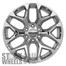 Picture of Chevrolet SUBURBAN 1500 (2015-2017) 22x9 Aluminum Alloy Chrome 6 Y Spoke [05668]