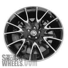 Picture of Jaguar XK (2014-2015) 20x10.5 Aluminum Alloy Machined with Black 7 V Spoke [59895]
