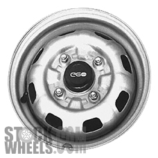Picture of Geo METRO (1989-1994) 12x4 Steel Silver 8 Hole [60134B]