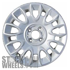Picture of Fiat 500 (2012-2017) 15x6 Aluminum Alloy Silver 9 Double Spoke [61661]