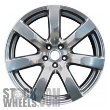 Picture of Nissan GT-R (2009-2011) 20x9.5 Aluminum Alloy Charcoal 7 Spoke [62519B]