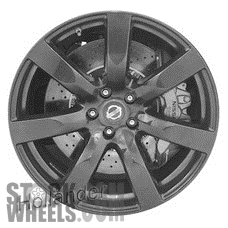 Picture of Nissan GT-R (2010-2011) 20x9.5 Aluminum Alloy Black 7 Spoke [62519C]