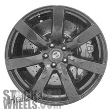 Picture of Nissan GT-R (2010-2011) 20x10.5 Aluminum Alloy Black 7 Spoke [62520C]