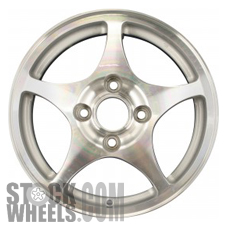 Picture of Honda ACCORD (1998-2000) 15x6 Aluminum Alloy Machined and Silver 5 Spoke [63802]