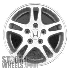 Picture of Honda ACCORD (2001-2002) 15x6.5 Aluminum Alloy Chrome 5 Double Spoke [63929]