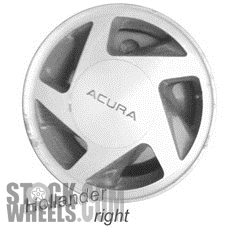 Picture of Acura INTEGRA (1992-1993) 14x5.5 Aluminum Alloy Machined and Grey 5 Spoke [63950C]