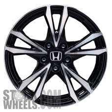 Picture of Honda CR-Z (2013-2015) 17x7 Aluminum Alloy Hyper Silver with Black Inserts 5 Double Spoke [64065]