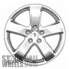 Picture of Pontiac G6 (2006-2008) 17x7 Aluminum Alloy Black Chrome 5 Spoke [06604]