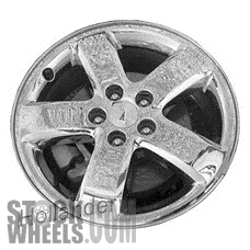 Picture of Pontiac G6 (2005-2009) 17x7 Aluminum Alloy Chrome Clad 5 Spoke [06625]