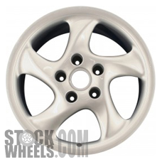Picture of Porsche 911 (1999-2001) 18x10 Aluminum Alloy Chrome 5 Spoke [67245]