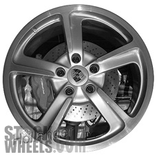 Picture of Porsche 911 (2014-2015) 20x9 Aluminum Alloy Silver 5 Spoke [67455]