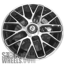 Picture of Porsche 911 (2014-2016) 20x9 Aluminum Alloy Machined with Black 20 Spoke [67463]