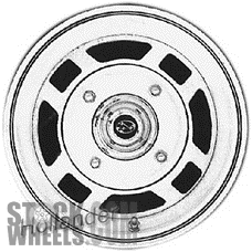 Picture of Subaru BRAT (1980-1983) 13x5 Steel Silver 4 Double Spoke [68657]