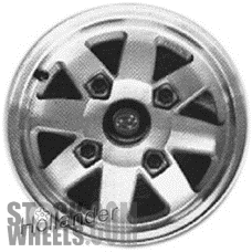Picture of Subaru PASS (1981-1982) 13x5 Aluminum Alloy Machined and Silver 8 Spoke [68659]