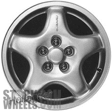 Picture of Subaru IMPREZA (1993-1997) 15x6 Aluminum Alloy Silver 5 Spoke [68693]