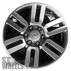 Picture of Toyota 4 RUNNER (2010-2017) 20x7 Aluminum Alloy Chrome 6 Double Spoke [69561]