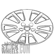 Picture of Saturn VUE (2010) 17x7 Aluminum Alloy Chrome 5 Double Spoke [07070]