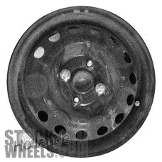 Picture of Hyundai ACCENT (2008-2011) 14x5 Steel Chrome  (for use with TPMS Sensor) 13 Hole [70762B]