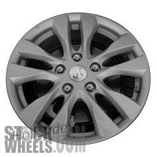 Picture of Suzuki SX4 (2013) 16x6 Aluminum Alloy Silver 5 Double Spoke [72723]