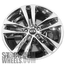 Picture of Kia SORENTO (2014-2015) 19x7.5 Aluminum Alloy Chrome  (for use w/o TPMS Sensor) 5 Double Spoke [74688B]