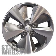 Picture of Kia OPTIMA (2014-2016) 17x6.5 Aluminum Alloy Chrome  (for use w/o TPMS Sensor) 5 Spoke [74709B]