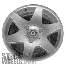 Picture of Smart FORTWO (2008-2014) 15x4.5 Aluminum Alloy Chrome 6 Spoke [85173]