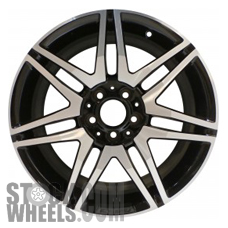 Picture of Mercedes C-CLASS (2013-2015) 18x7.5 Aluminum Alloy Machined with Black 7 Double Spoke [85269]