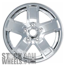 Picture of Jeep GRAND CHEROKEE (2005-2007) 17x7.5 Aluminum Alloy Chrome Clad 5 Spoke [09054]