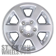 Picture of Jeep COMMANDER (2007-2008) 17x7.5 Aluminum Alloy Satin Clad 6 Spoke [09066B]