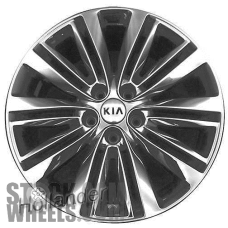 Picture of Kia OPTIMA (2016-2018) 18x7.5 Aluminum Alloy PVD Chrome 10 Double Spoke [74741]