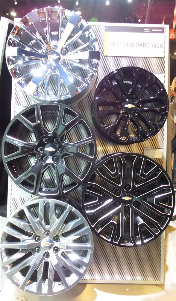 OE Chevy Alloy Rims with different finishes