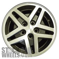 Picture of Plymouth SUNDANCE (1987-1988) 14x5.5 Aluminum Alloy Machined with Charcoal 5 Double Spoke [01520]