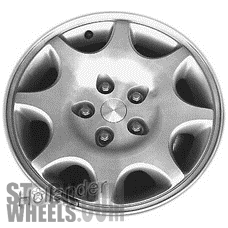 Picture of Eagle VISION (1993-1997) 16x7 Aluminum Alloy Machined with Silver 8 Spoke [02033B]