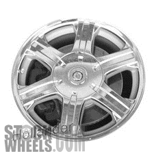 Picture of Chrysler PACIFICA (2004-2008) 17x7.5 Aluminum Alloy Chrome with Textured Pockets 6 Spoke [02216B]