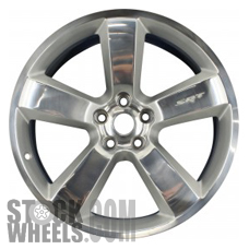 Picture of Dodge CHARGER (2006-2010) 20x9 Aluminum Alloy Polished with Silver 5 Spoke [02262]