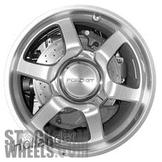 Picture of Ford GT (2005-2006) 18x9 Aluminum Alloy Machined with Silver 6 Spoke [03568]