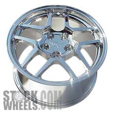 Picture of Chevrolet CORVETTE (2001-2002) 17x9.5 Aluminum Alloy Silver 5 Double Spoke [05123]